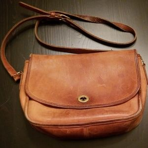 Vintage Made In USA Coach Cross Body Bag
